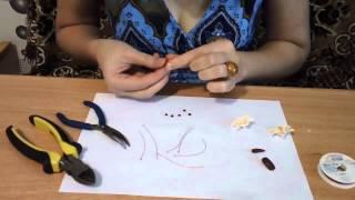 тычинки из полимерной глины урок 1