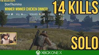 14 KILL SOLO GAME / PUBG Xbox One X