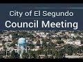 City of El Segundo City Council Meeting - Tuesday, April 16, 2019
