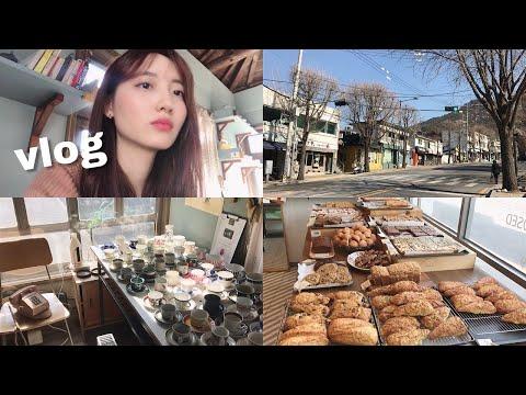 vlog#13  부암동나들이(feat. 하울)   부암동, 교보문고, 무인양품 [지원쓰vlog]