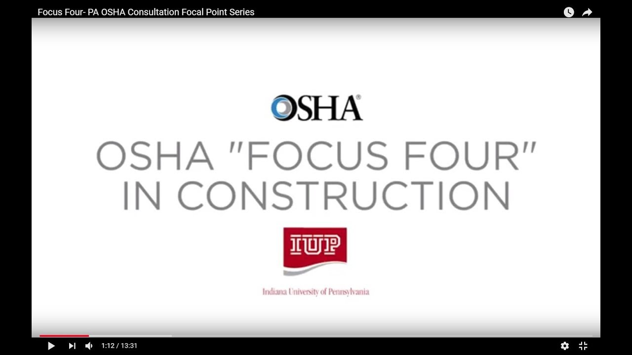 Focus Four - Focal Points Series - PA OSHA Consultation Program