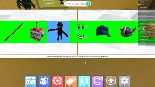 Case Clicker gameplay on Roblox