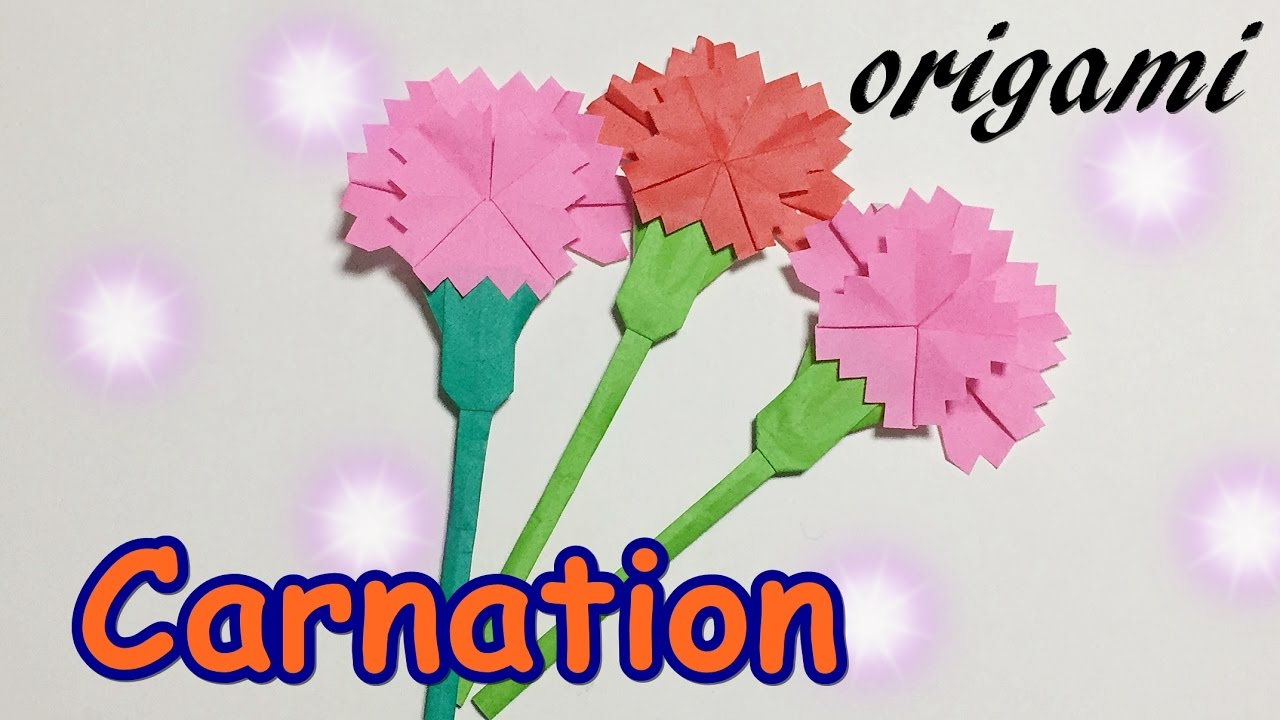 Origami Mothers Day Gift Ideas How To Make A Paper Carnation