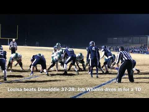 Louisa beats Dinwiddie 37-28