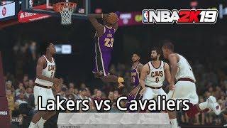 [NBA 2K19] Los Angeles Lakers vs Cleveland Cavaliers