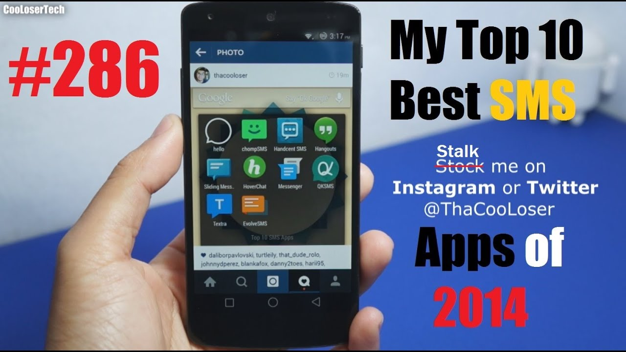 Phone Best Sms App For Android Phones top 10 best text messaging apps 286 youtube 286