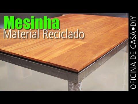 Mesinha de material reciclado diy oficina de casa youtube for Material de oficina sevilla