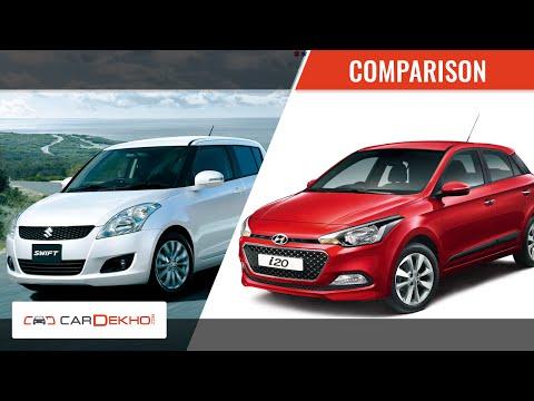 Hyundai Elite i20 vs Maruti Swift | Video Comparison | CarDekho.com