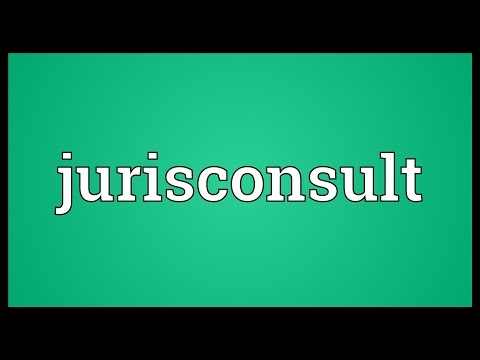 Jurisconsult Meaning