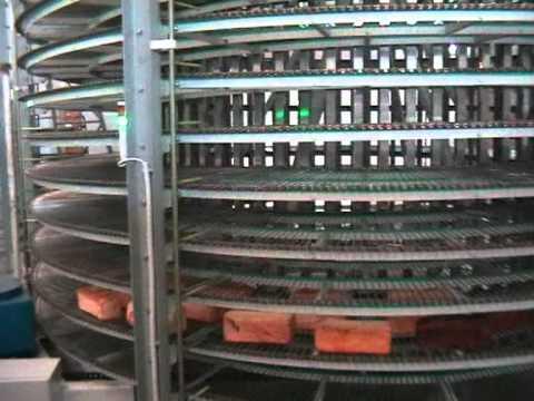Спиральный транспортер - Хлеб, нержавеющая лента