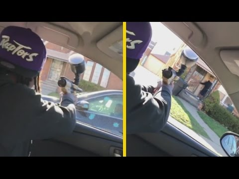 """Snap Dogg """"Shoots Rico Recklezz Affiliate With Paintball Gun"""""""