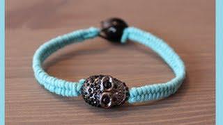 DIY Crystal Skull Pendant Bracelet