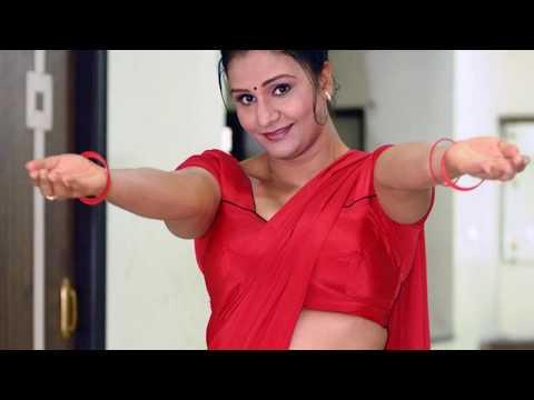 Mallu Apoorva Hot In Red Saree | Sexy Apoorva In Red Saree Snaps