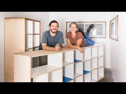 DIY Plywood Furniture - Living Tiny Project #060