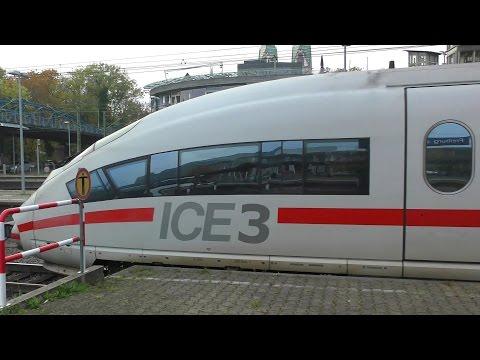 ICE 3 Abfahrt - departure - Deutsche Bahn AG (Hbf Freiburg Breisgau) high-speed train Germany