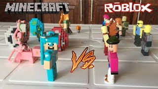 TOYS MINECRAFT VS ROBLOX TOYS!!