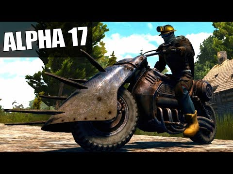 ALPHA 17 | MOTORBIKE, HOW COOL IS IT? | 7 Days To Die Alpha 17 Gameplay | S17E19