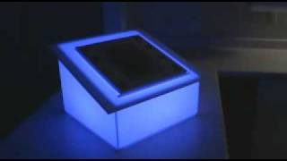 Portable Acrylic Lecture Podium - Led Book Stand.wmv