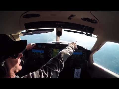 TBM 910 flight: Idaho to CA, arrival/approach/landing