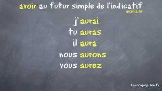 Avoir Au Futur Simple De L Indicatif La Conjugaison Fr Youtube