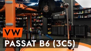 Como substituir a tirante da barra estabilizadora dianteiros no VW PASSAT B6 [TUTORIAL AUTODOC]