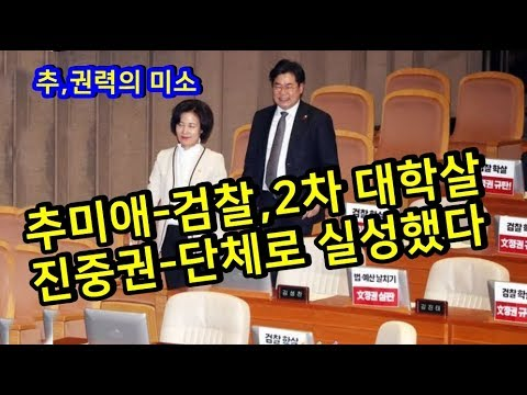 추미애 검찰,2차 대학살[진중권 단체로 실성했다] - YouTube