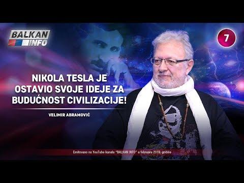 INTERVJU: Velimir Abramović - Tesla je ostavio svoje ideje za budućnost civilizacije! (21.2.2019)