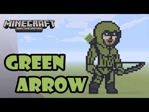 Minecraft: Pixel Art Tutorial and Showcase: Green Arrow (Arrow)