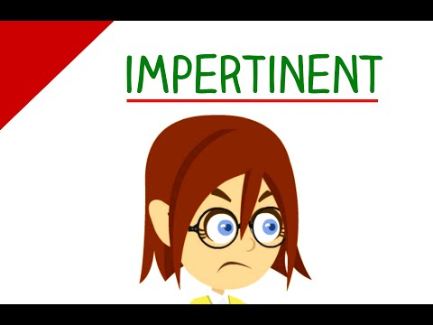 impertinent definition