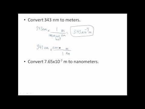 meters nanometers conversions