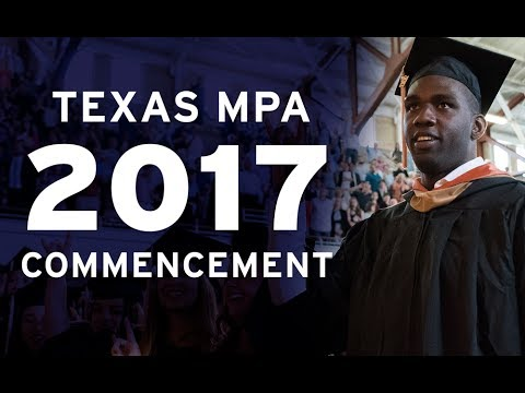 2017 Texas MPA Commencement Ceremony