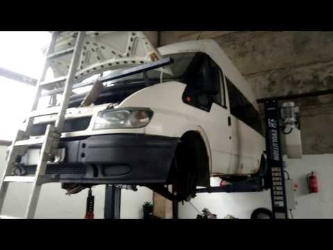 Ford transit 2004. Снятие коробки передач.