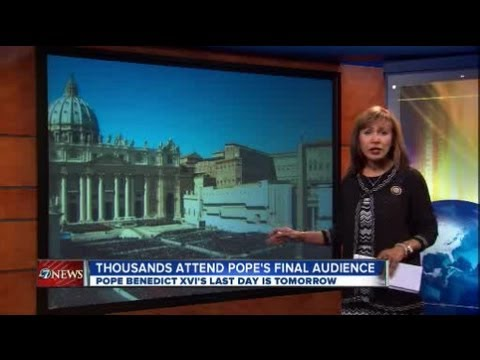 150,000 cheer Pope Benedict's final audience, Defense Secretary Hagel visits Pentagon