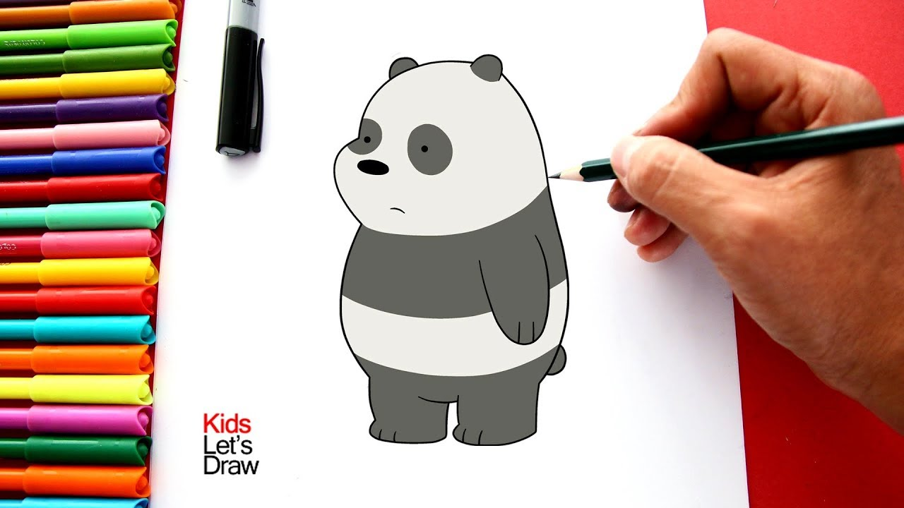 Como Dibujar Y Colorear A Panda De Osos Escandalosos