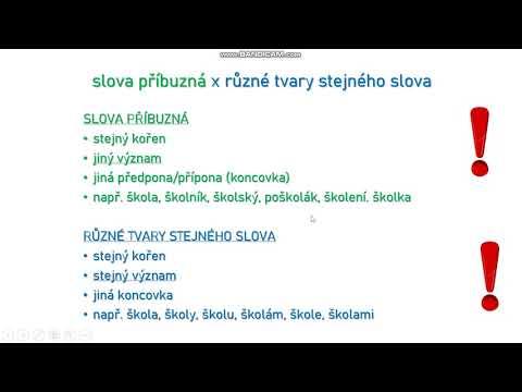 Opakování stavby slova - 1. část (5. ročník)