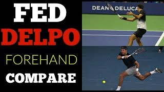 Federer Del Potro | Side by Side Forehand Analysis | Super Slow Motion
