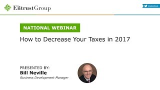 How to Decrease Your Taxes in 2017 - Video Image