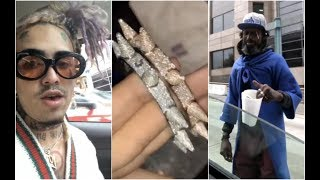 Lil Pump Give Homeless Man $$ Gets All His Jewelry Mailed To Him