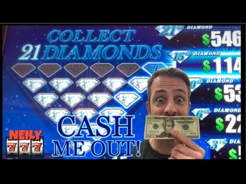 BEGINNERS LUCK 💎 FIRST TIME PLAYING 21 DIAMONDS SLOT MACHINE 💎 CASH ME OUT WITH NEILY777
