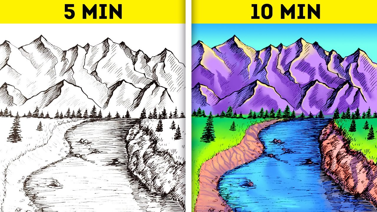 25 Cool Yet Simple Art Ideas To Create A Masterpiece