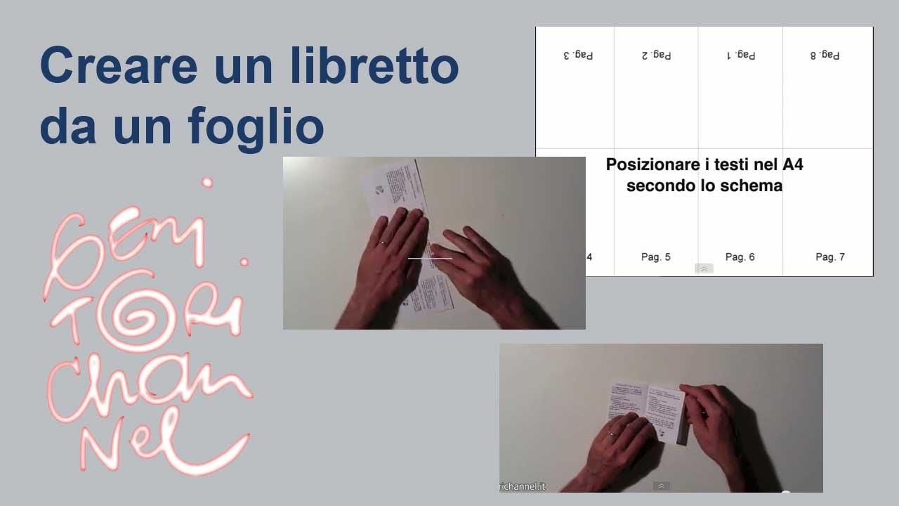 Estremamente Come creare un libretto tascabile da un foglio A4 - YouTube UT26