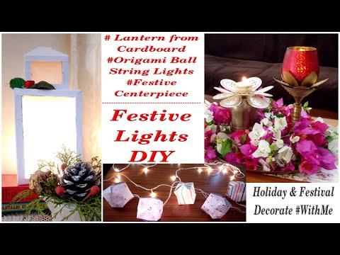 Diwali & Christmas Festive Lights Decor / DIY Lantern & String Lights / MomDas Life Handmade