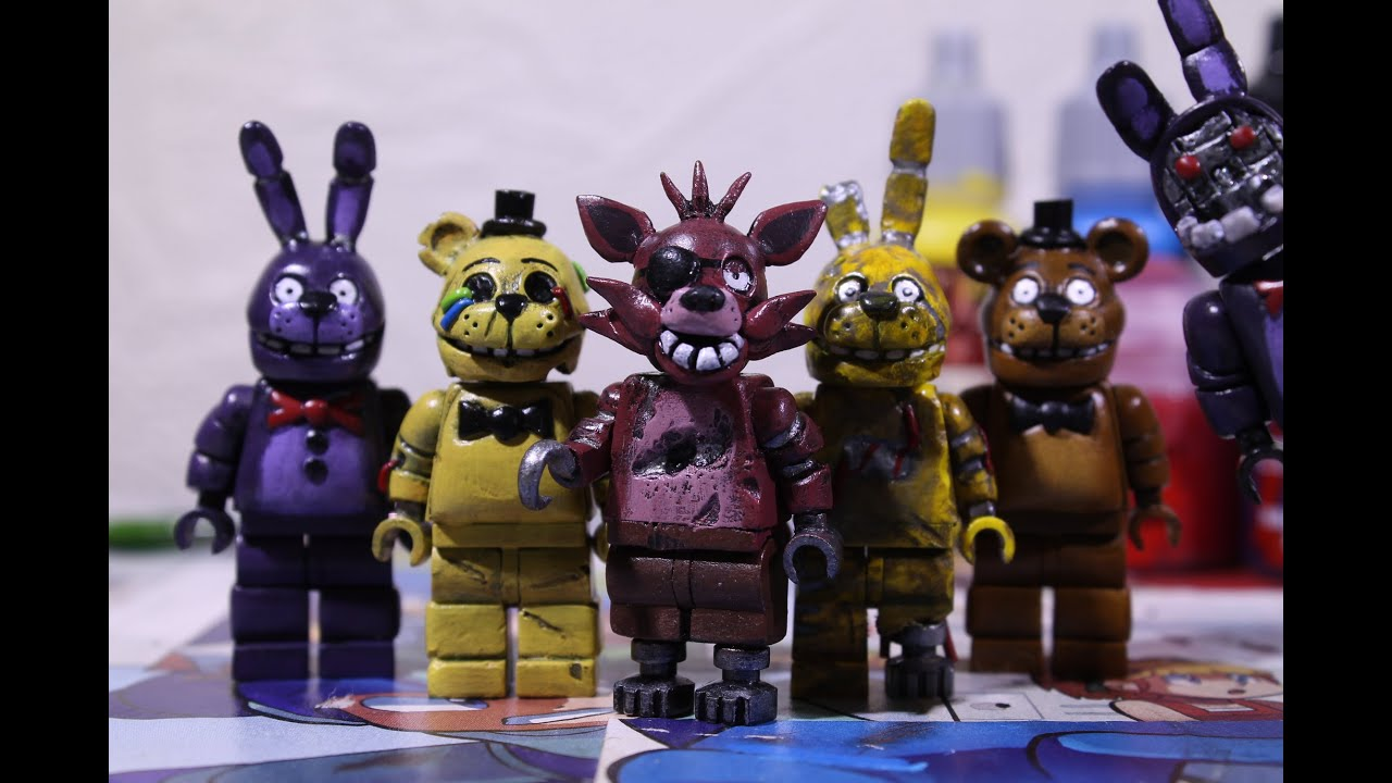 Lego five nights at freddy s figures youtube