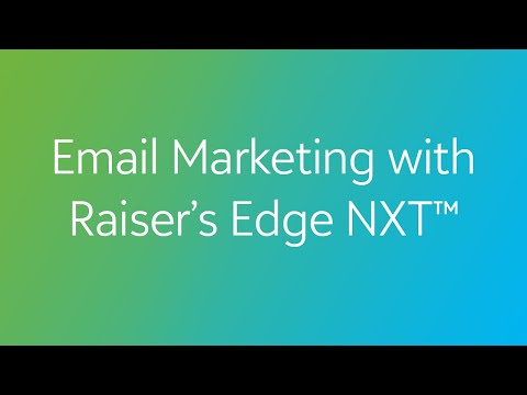 COVID-19: Email Marketing with Raiser's Edge NXT