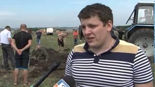 В Белгороде раскопали танк Т-34