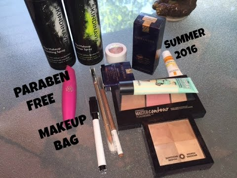 Paraben Free Makeup Bag Summer 2016