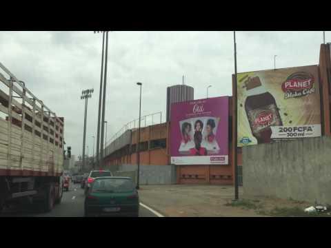 Driving in Abidjan, Cote d'Ivoire