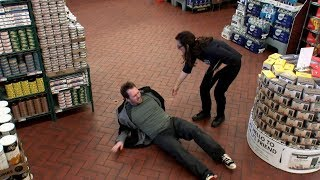 Slip and fall scam at a grocery store | What Would You Do? | WWYD