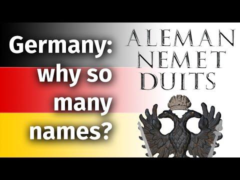 Germany's many many names—from Latin to Lakota