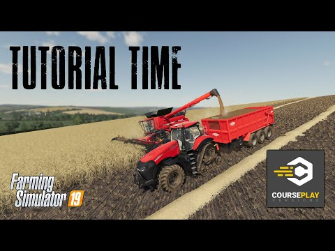 Courseplay 6 Tutorial - Empty Combine And Offload - Farming Simulator 19